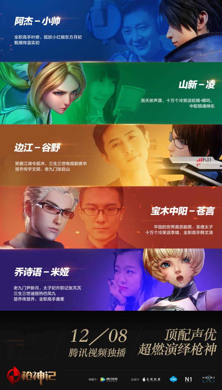 顶级声优阵容助力2017国产3D动漫《枪神记》热血登场!